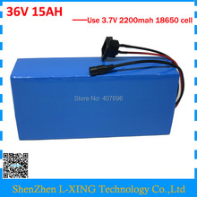 36V 15AH lithium battery 500W 36 V 15ah Electric bike battery use 15A BMS 42V 2A Charger Free customs fee good package(China)