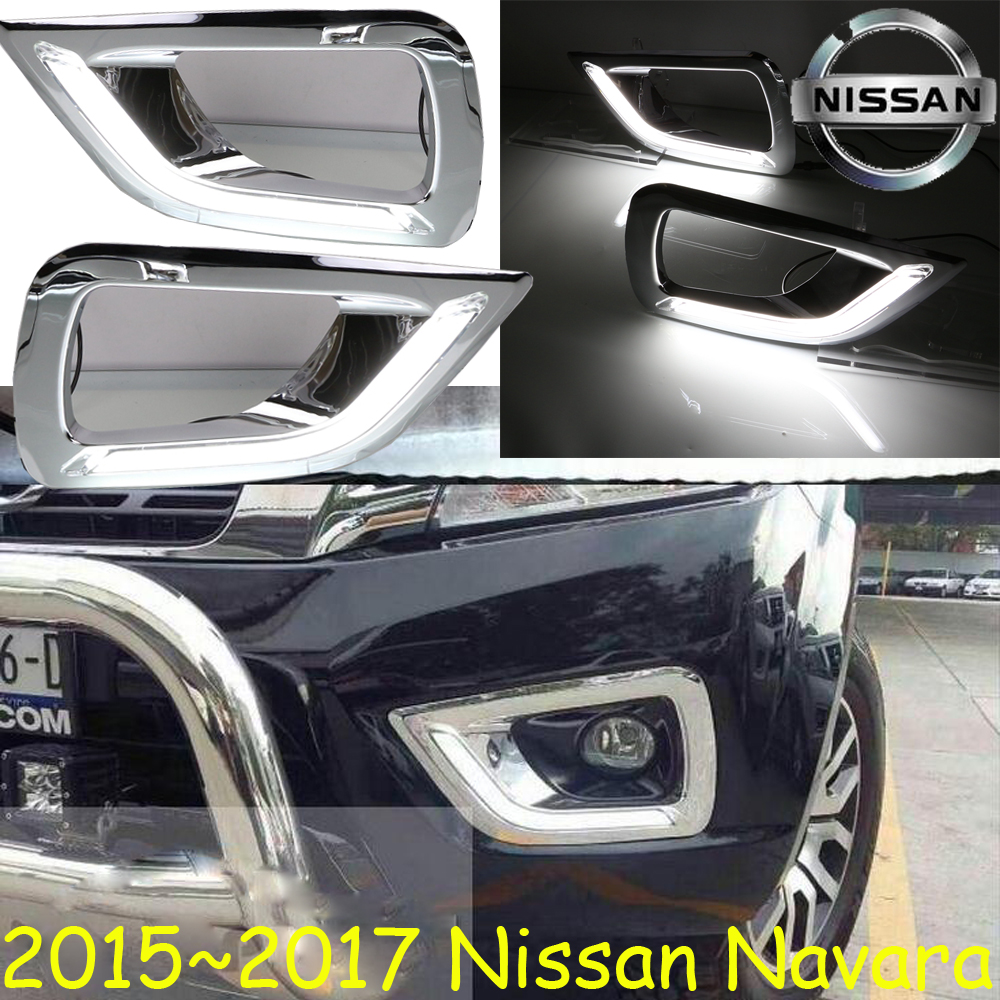 Car-styling,Navara daytime light,2015~2017,chrome,car-detector,LED,Free ship!2pcs,Navara fog light;car-covers, Navara<br>