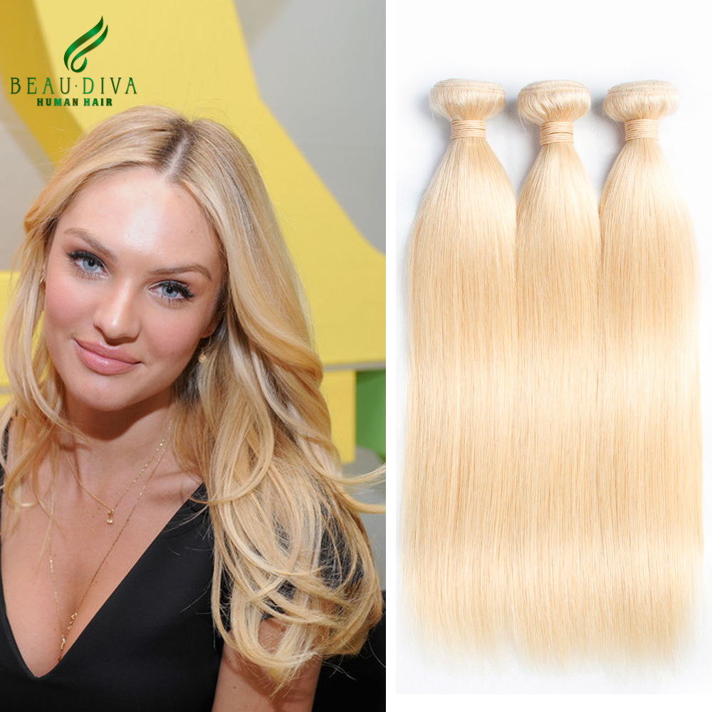 7A Quality 613 Blonde Brazilian Virgin Hair Straight 3 Bundles Best Selling Beau Diva Human Hair Weave Blonde Brazilian<br><br>Aliexpress