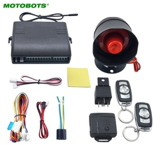 MOTOBOTS 30Set Car Alarm Security System Manual Reset Button Function Burglar Alarm Protection with 2 Remote Control #AM2224(China)