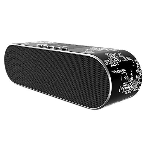 Bluedio AS-BT (Air) Sleek Stereo Wireless Bluetooth V4.1 Speakers(Black)