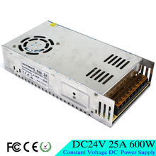 Small Volume New Model 600W 24V 25A Switching Power Supply Silver LED Strip AC 220V 110V Input to DC 24V UPS For CNC CCTV Motor
