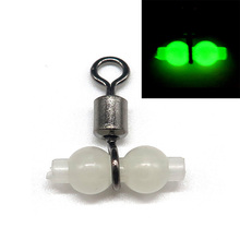 Minfishing 50pcs Luminous Fishing Swivels 3 way Rolling Swivels Sea Fishing Accessories Tackle Fishing Connector