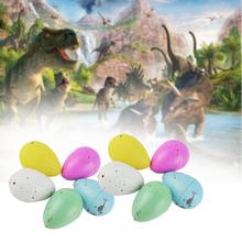 10 pcs Dinosaur Eggs Magic Water Growing Hatching Colorful Dinosaur Add Cracks Grow Eggs Inflatable Toys Gifts For Children