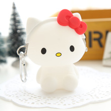 Women's Purse Hello Kitty Cat Cute Coin Purse Friendly Silicone Wallets Change Purse Jelly Purse Cartoon Money Bag Feminina(China)