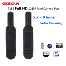 GEEKAM T189 Mini DV Camera HD 1080P 720P Micro Pen Camera Video Voice Recorder Mini Camara Camcorder Digital DVR Camera pk SQ8
