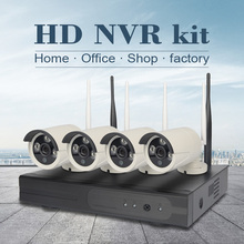 4CH CCTV System Wireless 960P NVR 4 PCS 1.3MP IR Outdoor P2P Wifi IP CCTV Security Camera System Video Surveillance Kit 1TB HDD