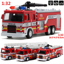 Mini 1:32 scale alloy construction vehicles, pull back model toys cars,Fire truck,Diecast car,free shipping(China)
