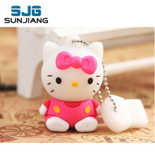 Cartoon Hello Kitty Usb Flash Drive pen Drive  4GB 8GB 16GB 32G 64G U disk Memory Sticks Pendrive usb stick gift for girl lovely