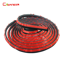 Cawanerl P-Shape Car Door Bottom Sealing Seal Strip Rubber Weatherstrip Self-Adhesive Auto Seal Edge Trim Noise Insulation(China)