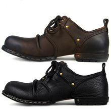 OTTO Top Quality Handmade Genuine Cow Leather Ankle Boots Fashion Martin Boots Men Leather Shoes EU 38-44