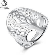 Brand Bestlucky Fashion Jewelry Women Beautiful Metal Classic Accessories Tree Of Life Finger Ring(China)