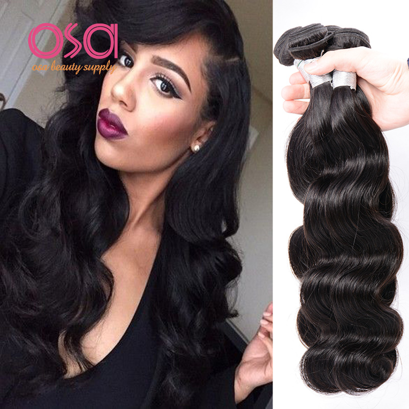 OSA Hair 6A Mink Brazilian Virgin Hair Body Wave 4 Bundles Brazilian Body Wave Virgin Hair Wet And Wavy Human Hair Weave Bundles<br><br>Aliexpress