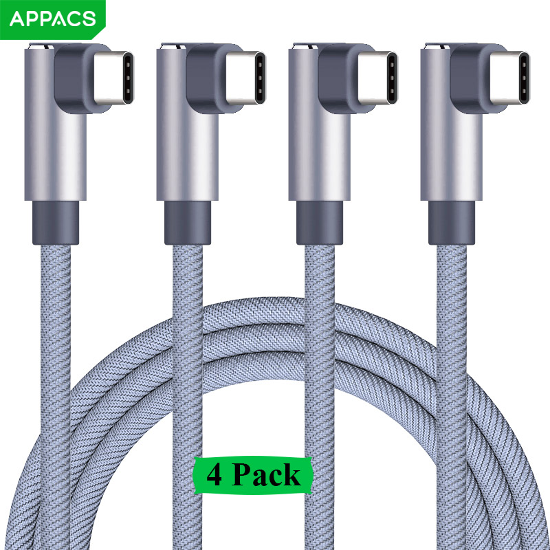 APPACS 4 Pack USB Type C Cable Nylon Braided Type-C USB Data Cable OnePlus 2 Nexus 6P Huawei P10 USB Type C Charging Cable