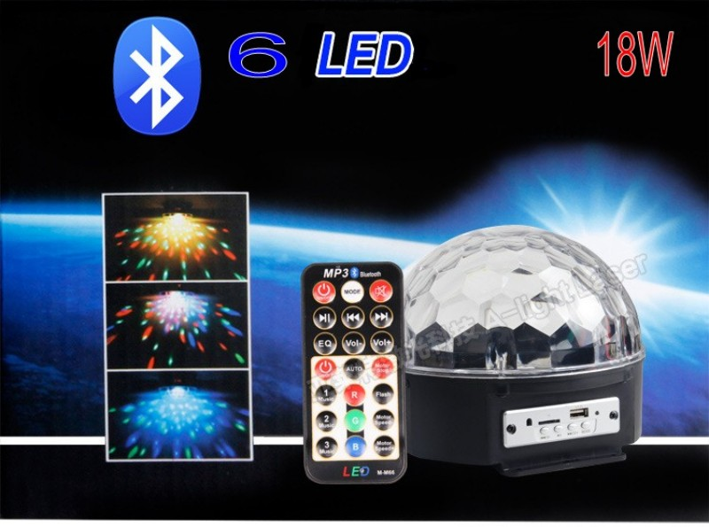 18W Bluetooth MP3 Crystal Magic Ball Led Stage Lamp KTV Disco Laser Light Party Lights Sound Control Laser Projector Music KTV<br><br>Aliexpress