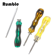 1 pcs Magnetic Double End Screwdriver Flat Phillips Screw Driver Adjust Slotted Repair Hand Open Tool Kit Multi Function(China)