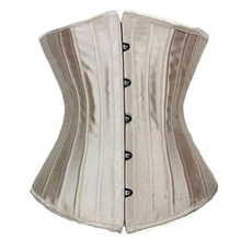 Sexy Satin Steel Boned Waist Trainer Tummy Control Women Waist Bodycon Corsets Cincher Slimming Body Shaper Girdle Lingerie 6XL