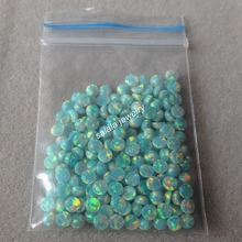 500 pcs /lot    3mm Round Opal  OP03 Moon Yellow  Round Fire Opal Synthetic  Round Cabochon Opal   for Body Piercing Jewelry