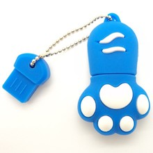 wholesale funny cats paw usb 2.0 flash drive 2GB 4GB 8GB external storage from shenzhen China