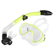 Professional Diving Masks Goggle Snorkel Tube Set Men Women Diving Swimming Water Sports Equipments Yellow Blue Green