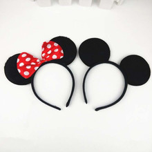 Children Kids Mickey Minnie Ear Headband Adults Headwear Halloween Carnival Party Fancy Dress Decor