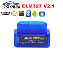 Car Diagnostic Scanner ELM327 Bluetooth V2.1 OBD2 CAN-BUS Tester Supports Android Torque/Symbian Works Multi-Cars ELM 327 HOT(China)