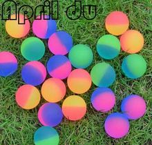 100pcs April Du Brand 32mm two colors bouncing ball capsule shell toys for capsule toy machine factory price