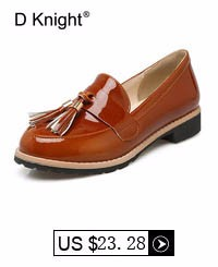 2017 Spring Women's Loafers Tassel Fashion Flats Bling PU Leather Oxfords For Women Vintage Casual Platform Shoes Big Size 33-43