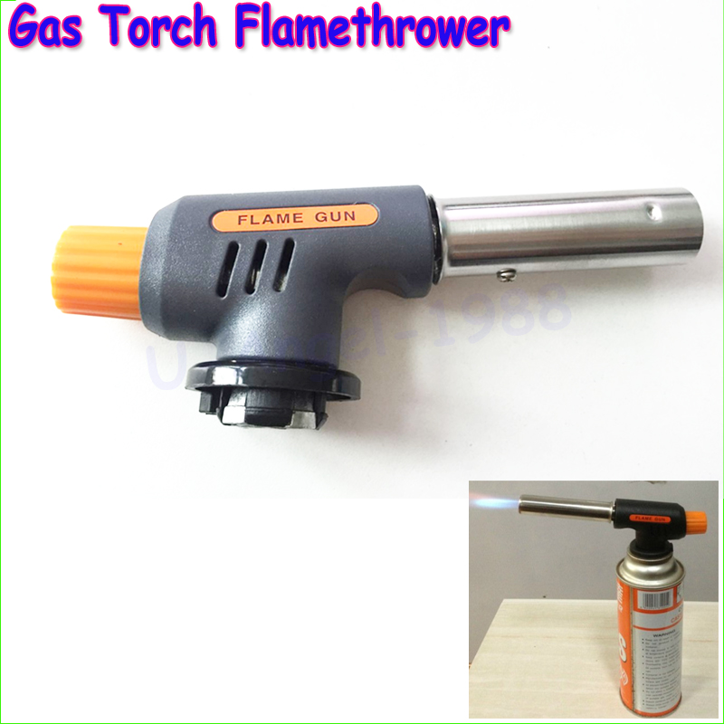 Free shipping!! Gas Torch Flamethrower Butane Burner Automatic Ignition Baking Welding BBQ Camping Outdoor<br><br>Aliexpress