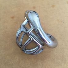 2018 Curve Snap Ring Design Male Super Small Stainless Steel Cock Cage Penis Ring Chastity Belt Device BDSM Product Sex Toy S055(China)