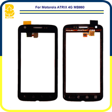 10pcs Phone Parts 4.0'' Touchscreen Panel Digitizer Front Glass Lens Sensor Touch Screen For Motorola Atrix 4G MB860