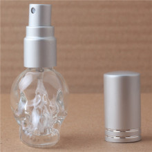 1pieces 8ml 3D Skull Design Travel Perfume Bottles MIni Refillable Perfume Atomizer  Portable Glass Bottle  with 10 colours