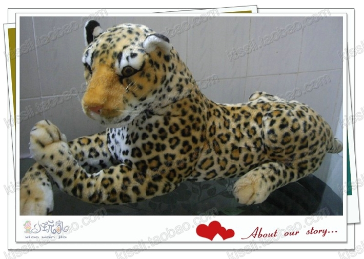 stuffed simulation animal 48cm spotted leopard plush toy simulation leopard doll d7731<br><br>Aliexpress