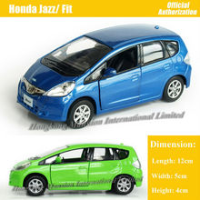 1:36 Scale Diecast Alloy Metal Car Model For Honda Jazz / Fit Collection Model Pull Back Toys Car - Green / Blue