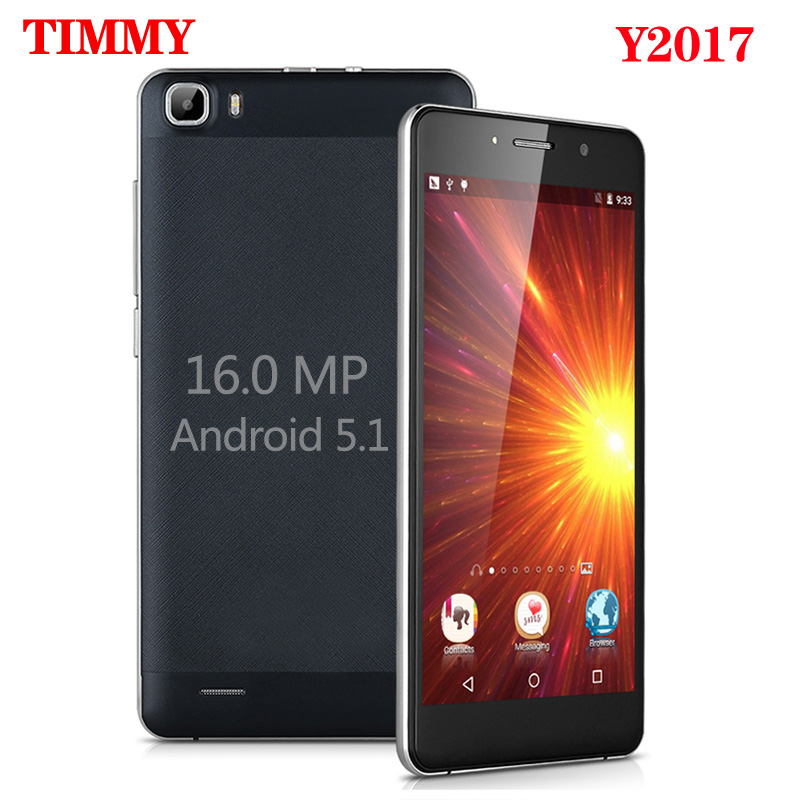TIMMY Y2017 Mobile Phone 16MP camera 5.5 inch screen MTK6580 Quad Core Android 5.1 Dual Sim Cell Phone GSM/WCDMA 3G Smartphone(China (Mainland))