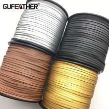 GUFEATHER 3MM 100 yards PU leather cord/jewelry accessories/jewelry findings/for the production of tassels/Etsy supplier(China)