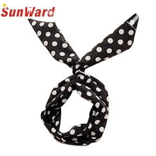 Hot Marketing    8 PCS /lot Rabbit Bunny Ear DIY Wire Cute Girl Headband Scarf Hair Band Bow Head Wrap Dot 80cm Colorful