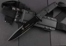VENOM Camping Tactical Knife,N690 Blade Rubber Handle Hunting Fixed Knife,Survival Knives.