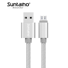 Suntaiho 2.4A Fast Charge Micro USB Cable,Nylon Weaving Micro Cable for Mobile Phone Android for Xiaomi HTC LG Samsung(China)