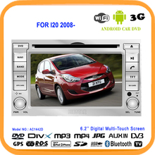 Auto Navigator RDS 2 din car gps stereo player DVD 6.2'' Touch Screen HD Android 5.1 WIFI Quad Band TV For HYUNDAI I20 2008-