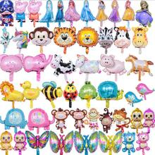 1000pcs Mix Mini Animal Cute Princess Kitty Car Foil Balloon Number Rainbow Candy Birthday Party Decoration Child Toy Supplier