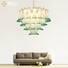 After the modern creative designer glass living room Pendant Lights model room peacock bedroom lamp Chinese Garden lamp LU809171(China)