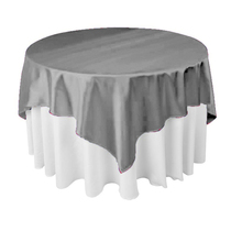 "14pcs/Pack 145cm x 145cm / 57"" x 57"" Square Satin Tablecloth Table Covers For Wedding Party Restaurant Banquet Decorations(China)"
