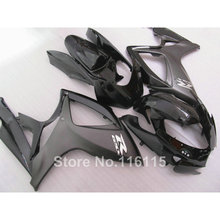 Injection mold  fairing kit for SUZUKI GSXR 600 750 K6 K7 2006 2007 all black GSXR600 GSXR750 fairings set 06 07 NF34