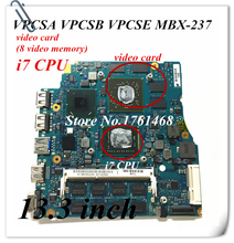 MBX 237 mainboard For Sony 13.3 inch VPCSA VPCSB VPCSE MBX-237 Laptop motherboard i7 cpu 100% working Free Shipping
