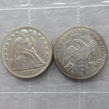 1873-CC  Seated Liberty Silver Dollars One Dollar Coins Retail