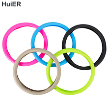 HuiER High Quality Food Grade Silicone Auto Steering-Wheel Cover Anti-slip for 36-40CM Car Styling Steering Wheel Free Shipping(China)