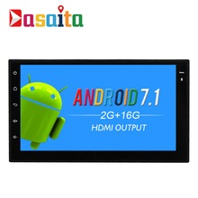 "Dasaita 7"" Android 7.1 Car GPS Player Navi for 2 Din Universal with 2G+16G Quad Core No DVD Auto Radio Bluetooth Multimedia HDMI"