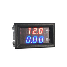 Digital Voltmeter Ammeter DC 100V 10A Red Blue LED Dual Voltage Amp Panel Guage Car Current Monitor Tester 4.5-30v Voltage Meter