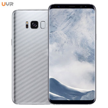 UVR 5Pcs For S7 Edge S6 Full Cover Carbon Fiber Back Screen Protector Film Wrap Skin Stickers For Samsung Galaxy S8 Plus Note 8(China)